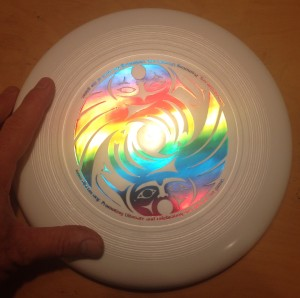 140-g J-star youth ultimate disc with RAINBOW DiscNW logo!